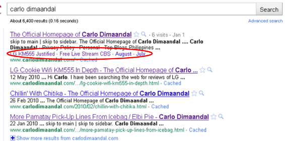 Site Links Carlo Dimaandal