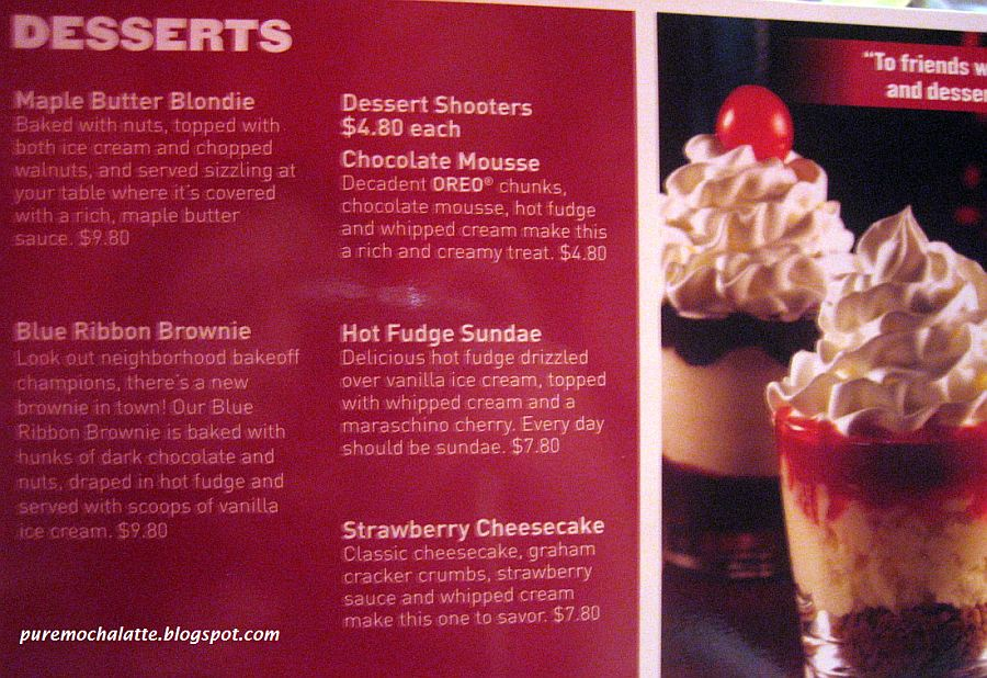have love to try the dessert shooters or even the maple butter blondie.