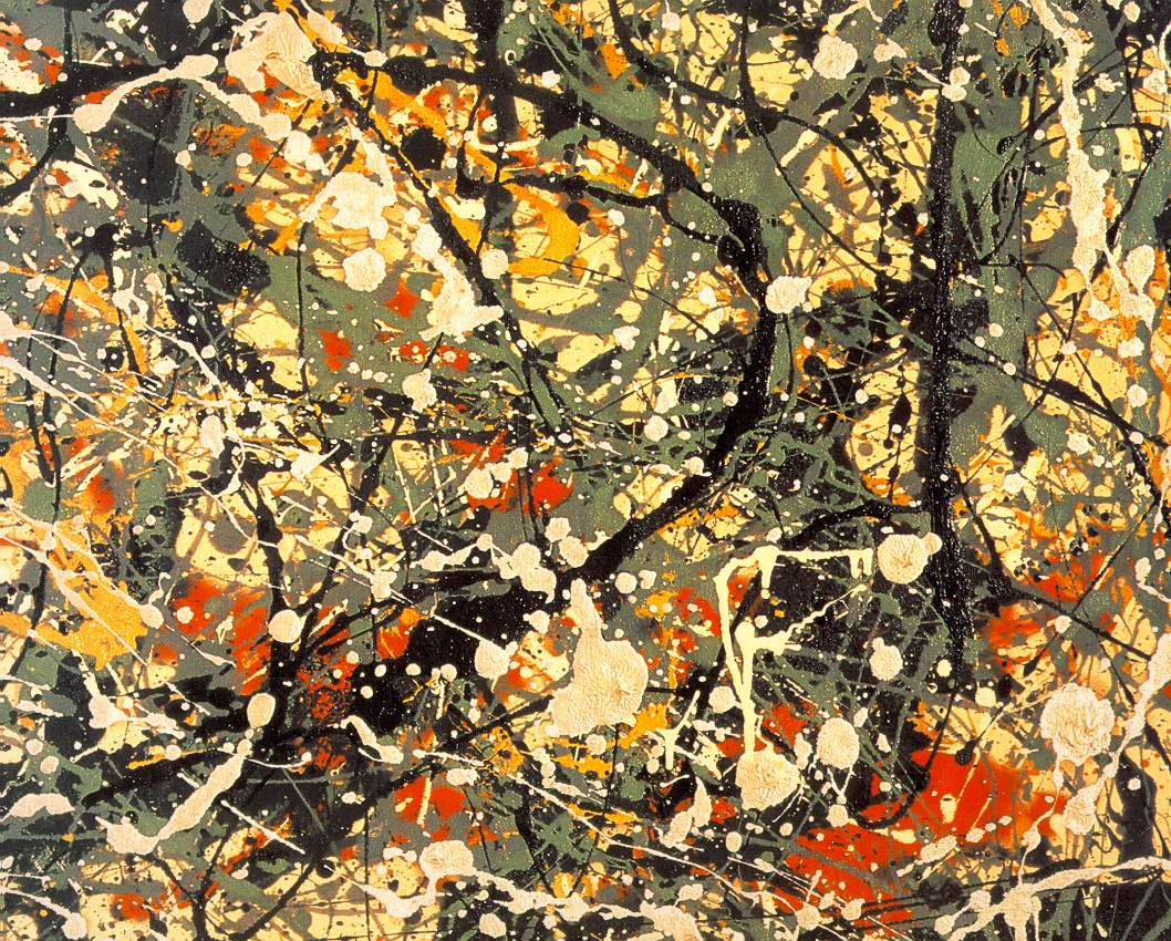 I should be laughing art wednesday jackson pollock for Mural jackson pollock