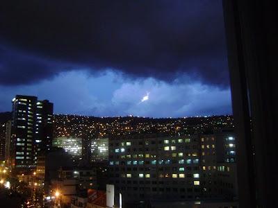 Lluvia en Bolivia