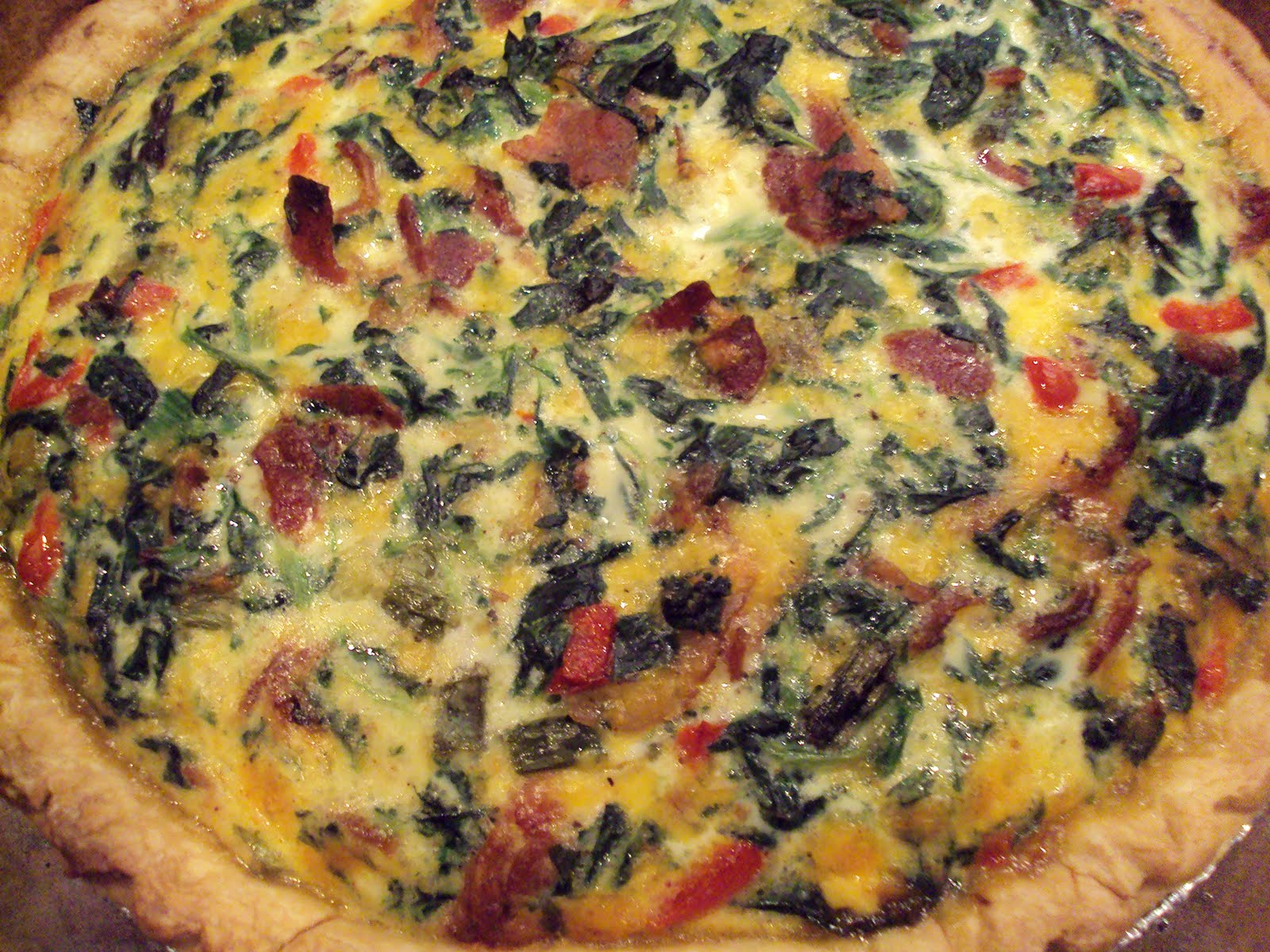 Meal Planning with Connie: Spinach and Bacon Quiche