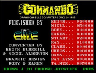 ZX Spectrum Commando