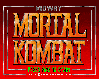 Amiga Mortal Kombat Title Screen