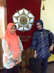 FH-UGM, Kenangan Marissa Hauqe Fawzi bersama Indri yang Manis Sahabatku dari Dehub RI, Sep 2010