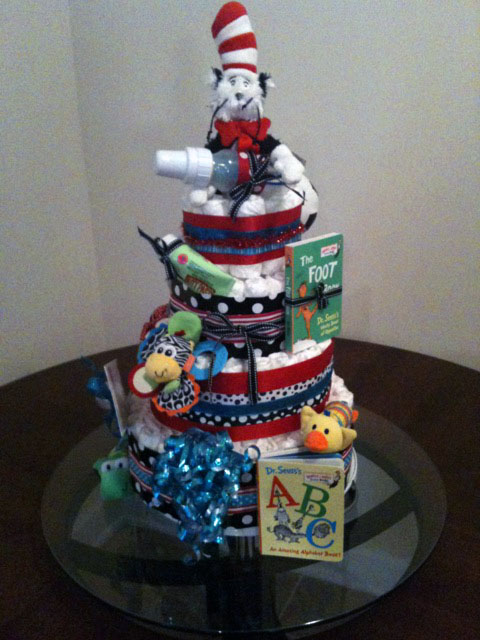 cat in hat cake. The finished cake!