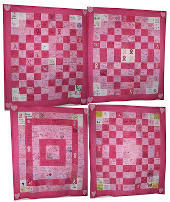 Breast Cancer Quilt tops