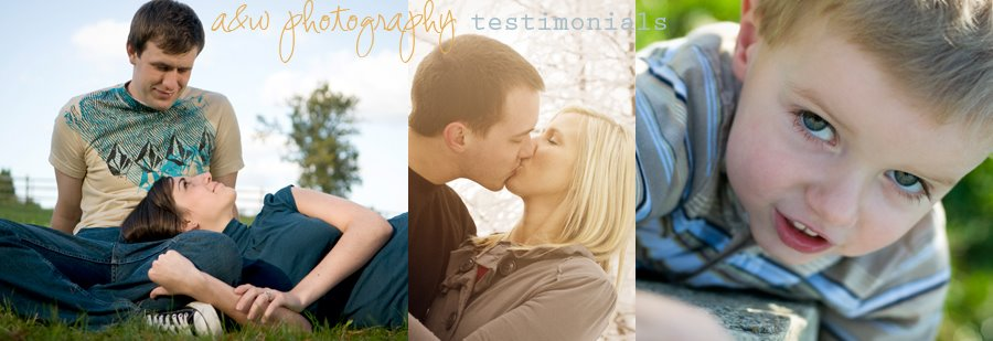 A&W Photography Testimonials