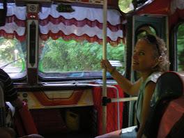 Dans un des beaux bus de Puerto Colombia!