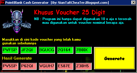 Siantar Cheater™: Cash PointBlank Generator
