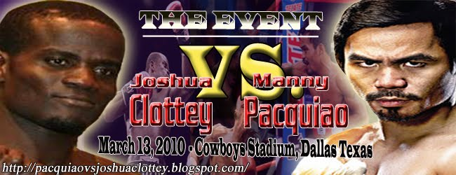 Watch Manny Pacquiao vs Joshua Clottey