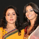 Hot Indian Aunty Hema Malini At Tv Serial Seeta Aur Geeta Launch Photo Gallery