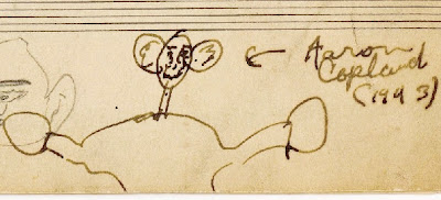 Bernstein caricature of Copland (1943)