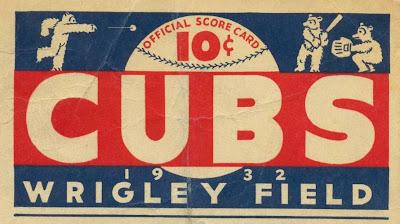 1932 Cubs program