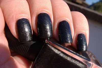 sally hansen raven's wing nail polish swatch