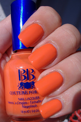 bb couture for nails tangerine scream nail polish