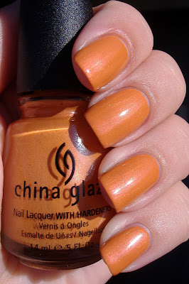 china glaze code orange nail polish