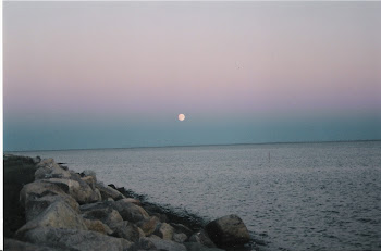 Moon Rising Over Neguac Beach, NB, Canada