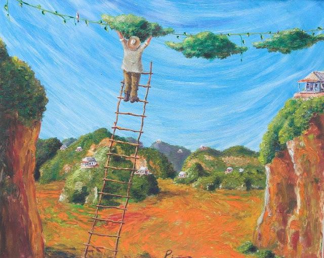 Vinales, Cuba, painting by Pina, 2001