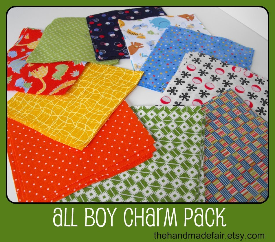 calicodaisy all boy charm packs