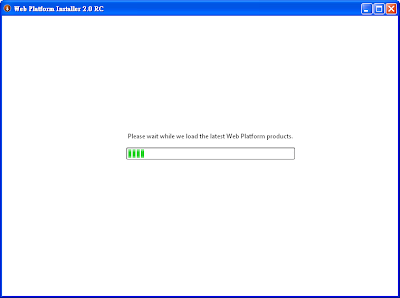 Microsoft Web Platform Installer安裝初始畫面