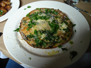 The Spotted Pig dish Asparagus and Ricotta Frittata