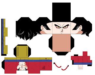 Goku y todos sus amigos en Cubeecraft