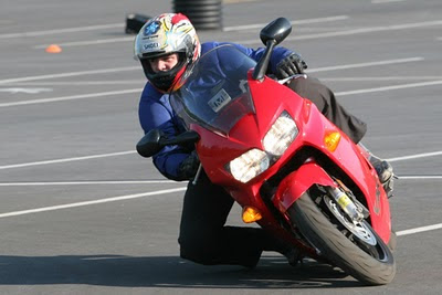 Superadvanced Motorcycle Training in progress