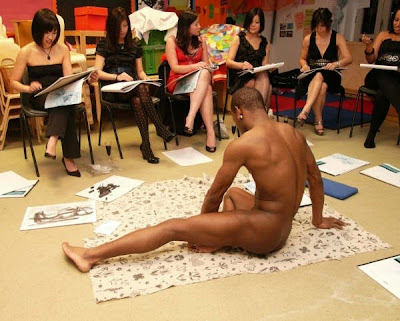 Nude male life drawing class