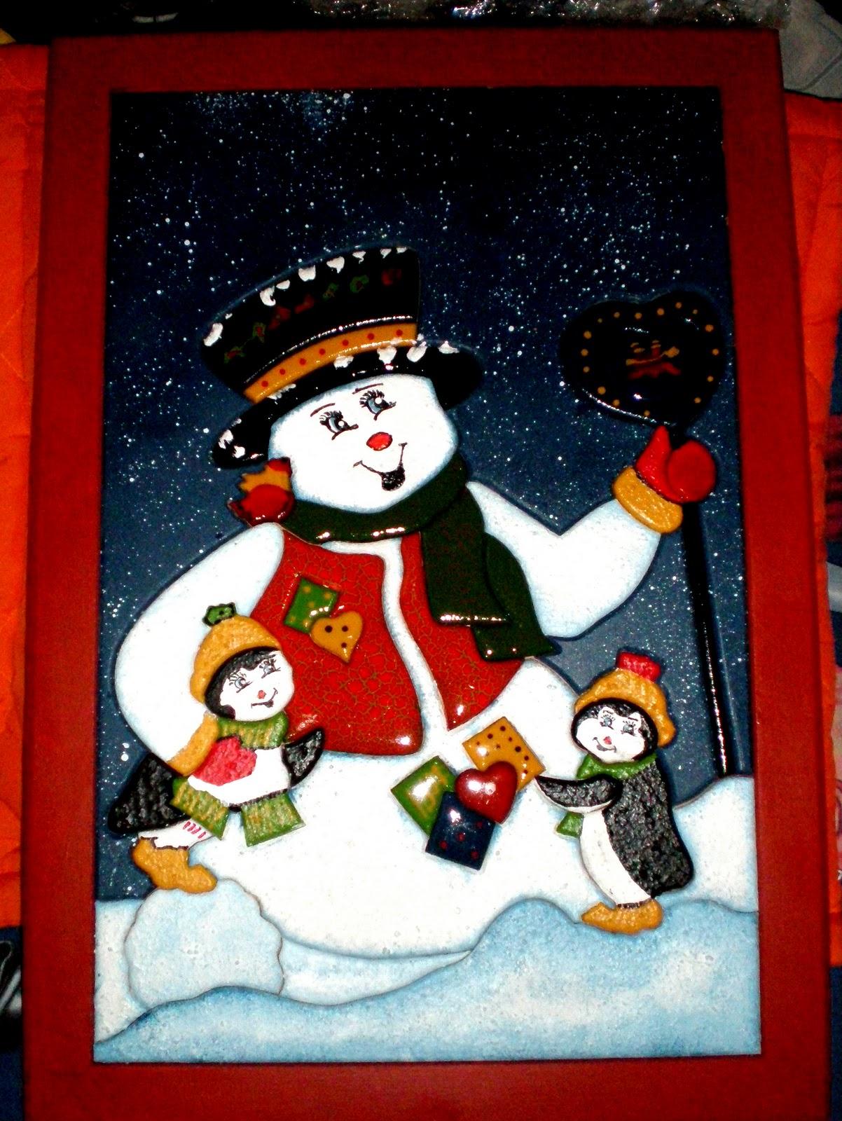 Manualidades juano cuadro de navidad en madera for Cuadros de navidad