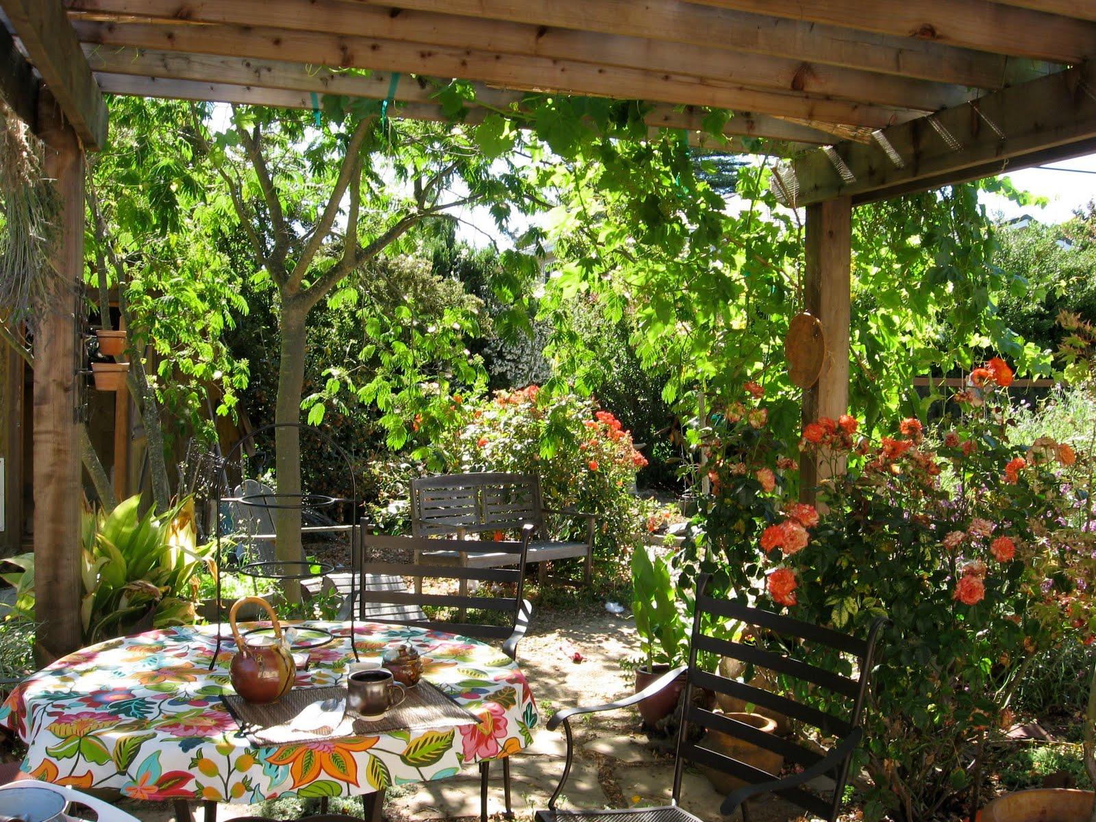Urban artichoke our edible neighborhood and the edible for Garden arbor designs