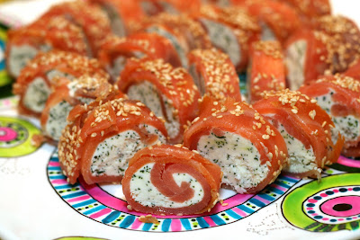 Smoked Salmon and Wasabi Rolls Recipe
