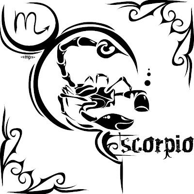 scorpio symbol tribal tattoos design - art of tattoos