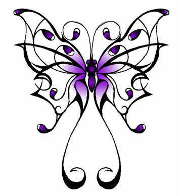 Best Tattoo Pictures Tribal Butterfly Design