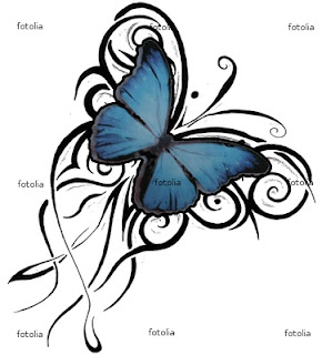 "Butterfly Tattoo Design Free butterfly tattoo designs "" blue tattoo dominant"