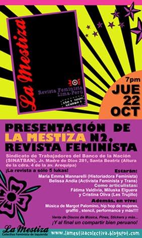 Presentación de La Mestiza N2. Revista Feminista