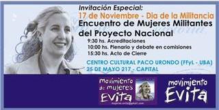 Acompañemos al Movimiento de Mujers Evita