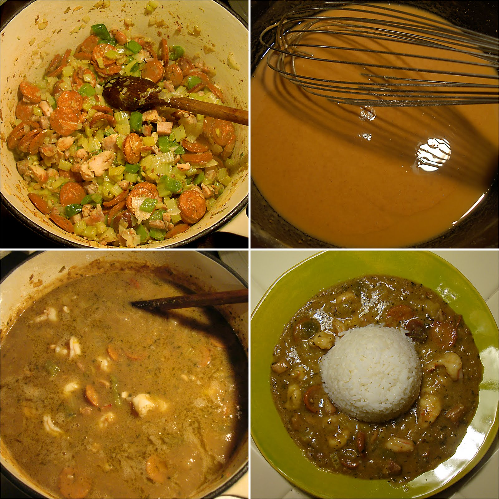 BBQDad1: Chicken & Shrimp Gumbo with Andouille Sausage