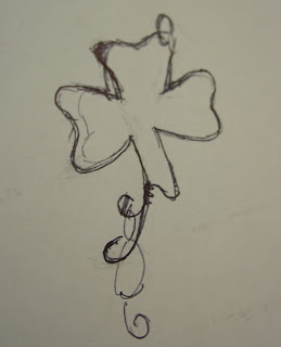 shamrock pendant sketch