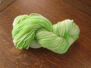 hand dyed spring green yarn
