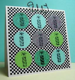 stamped glitter c/s