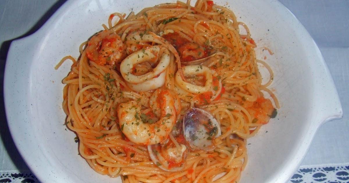 Los fogones de chus espaguetis con marisco - Espaguetis con chirlas ...