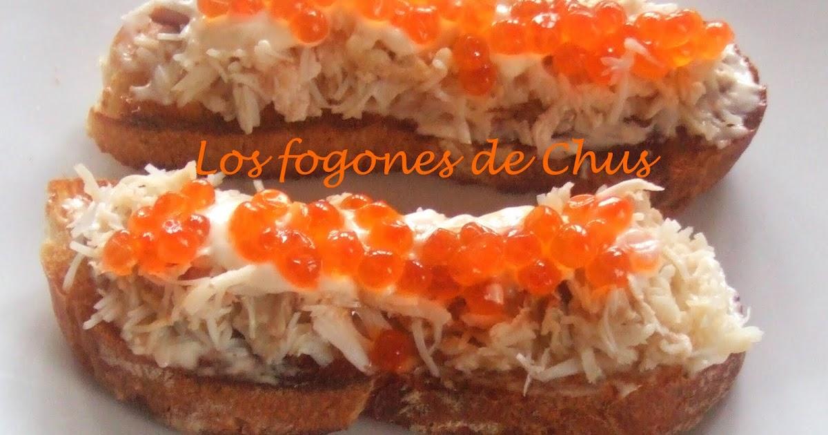Los fogones de chus canap de carne de cangrejo for Canape de cangrejo