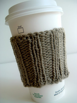 Takeout COFFEE CUP SLEEVE Cozy Cable Knitting Pattern | eBay