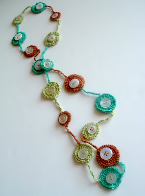 crochet necklace with button on Etsy, a global handmade