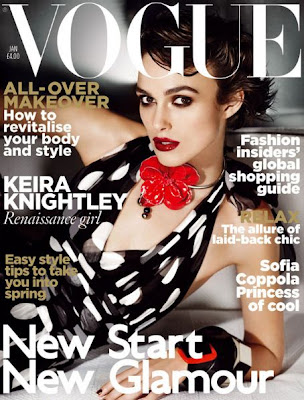 Keira Knightley  pe coperta Vogue UK Ianuarie 2011