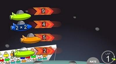 Jocuri : Invata tabla inmultirii in spatiu