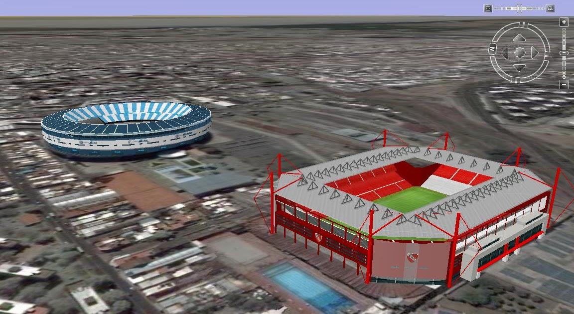 Estadios de racing e independiente argentina en google earth for Puerta 20 estadio racing