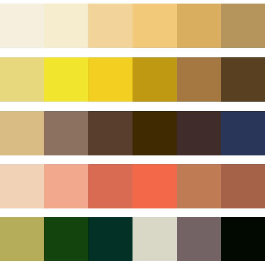 Ana belch la est tica tradicional japonesa ii for Paleta de colores de pintura para interiores