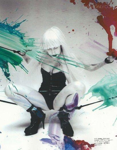 Lady Gaga Bondage for Vogue Japan