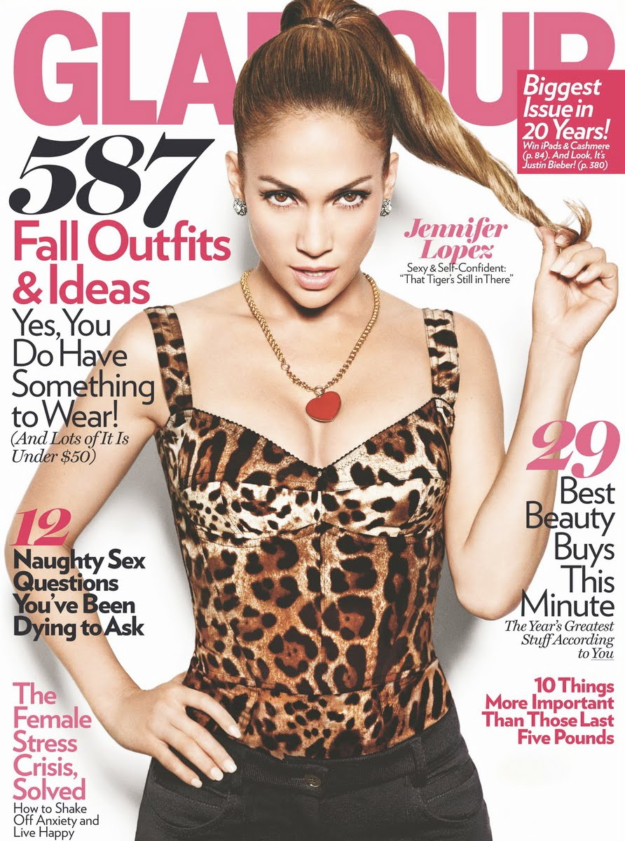 Jules Fashion Jennifer Lopez En Couverture De Glamour Magazine A Perfect Woman
